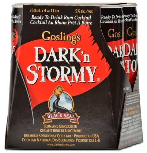 GOSLING'S DARK 'N STORMY COCKTAIL SETS SAIL IN NEW CANS - A ready-to-drink mix of rum and ginger beer (9% ABV)