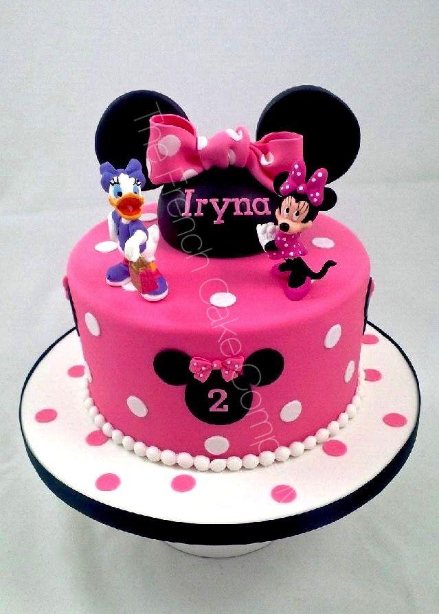 Gâteau Danniversaire Minnie Rose Cake Design Belgique Fancy Cakes