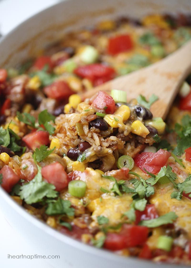EASY and Delicious One Pot Burrito Bowls - I Heart