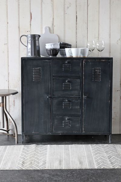 Industrial Locker Style Cabinet