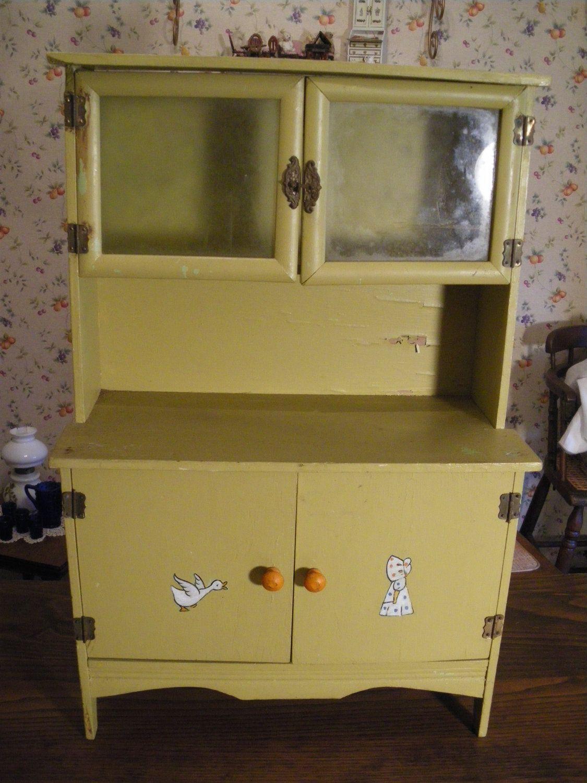 Half Price Sale Antique Child S Kitchen Cabinet Cupboard Hoosier Large Size Half Price Sale Daycare Furniture Kids Kitchen Kids Furniture