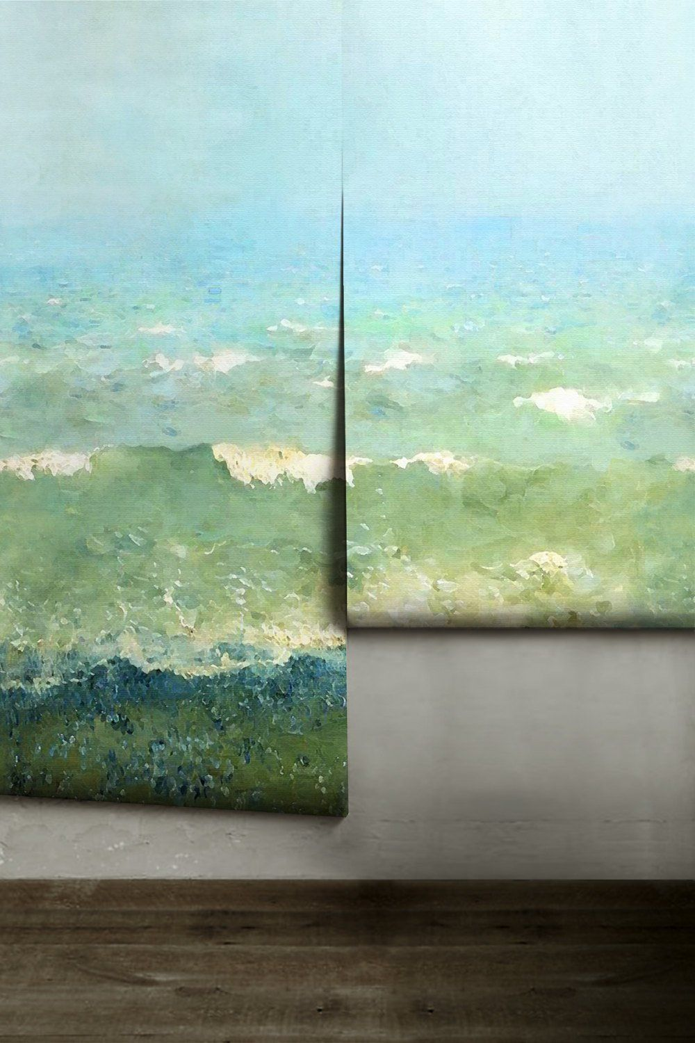 Painterly Coastal Mural • Easy to Apply Removable Peel 'n ...