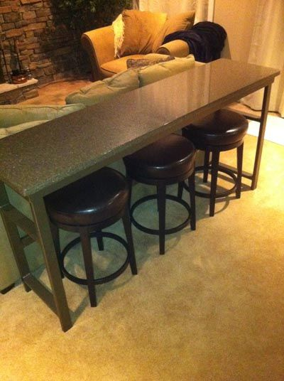 Bar Table Behind Theater Seats AVS Home Theater Discussions And - Long bar table with stools
