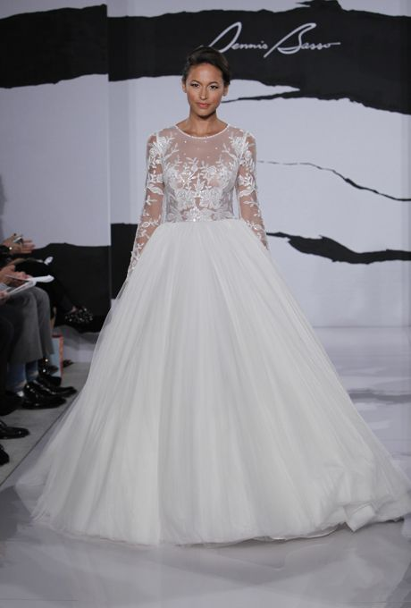 Dennis Basso For Kleinfeld Bridal Fall 2012 Long Sleeve Beaded