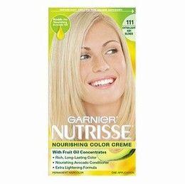 Garnier Nutrisse Nourishing Colour Creme In 111 White Chocolate Extra Light Ash Blonde