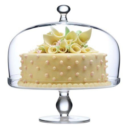 Buy Luigi Bormioli Michelangelo Glass Footed Glass Cake Plate with ...