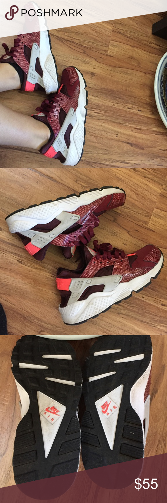 check out a3db8 a4339 ... Nike Air Huarache Red Lizard online retailer 6a246 4947b Just needs to  be cleaned a little, well taken care of ...