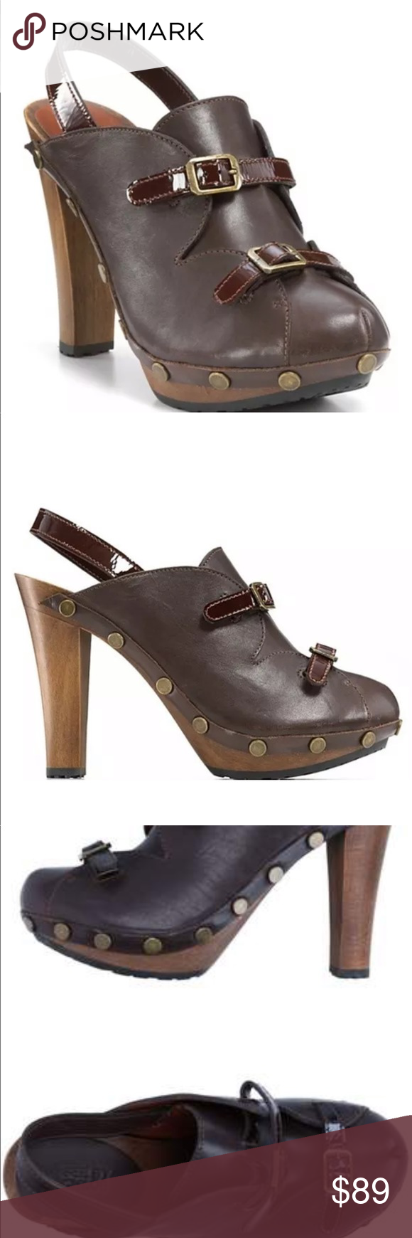 See by Chloe clogs Mules Heels Slingback See by Chloe brown Leather Slingback Heels   Excellent like new condition  Size 39 See By Chloe Shoes Ankle Boots & Booties #seebychloe