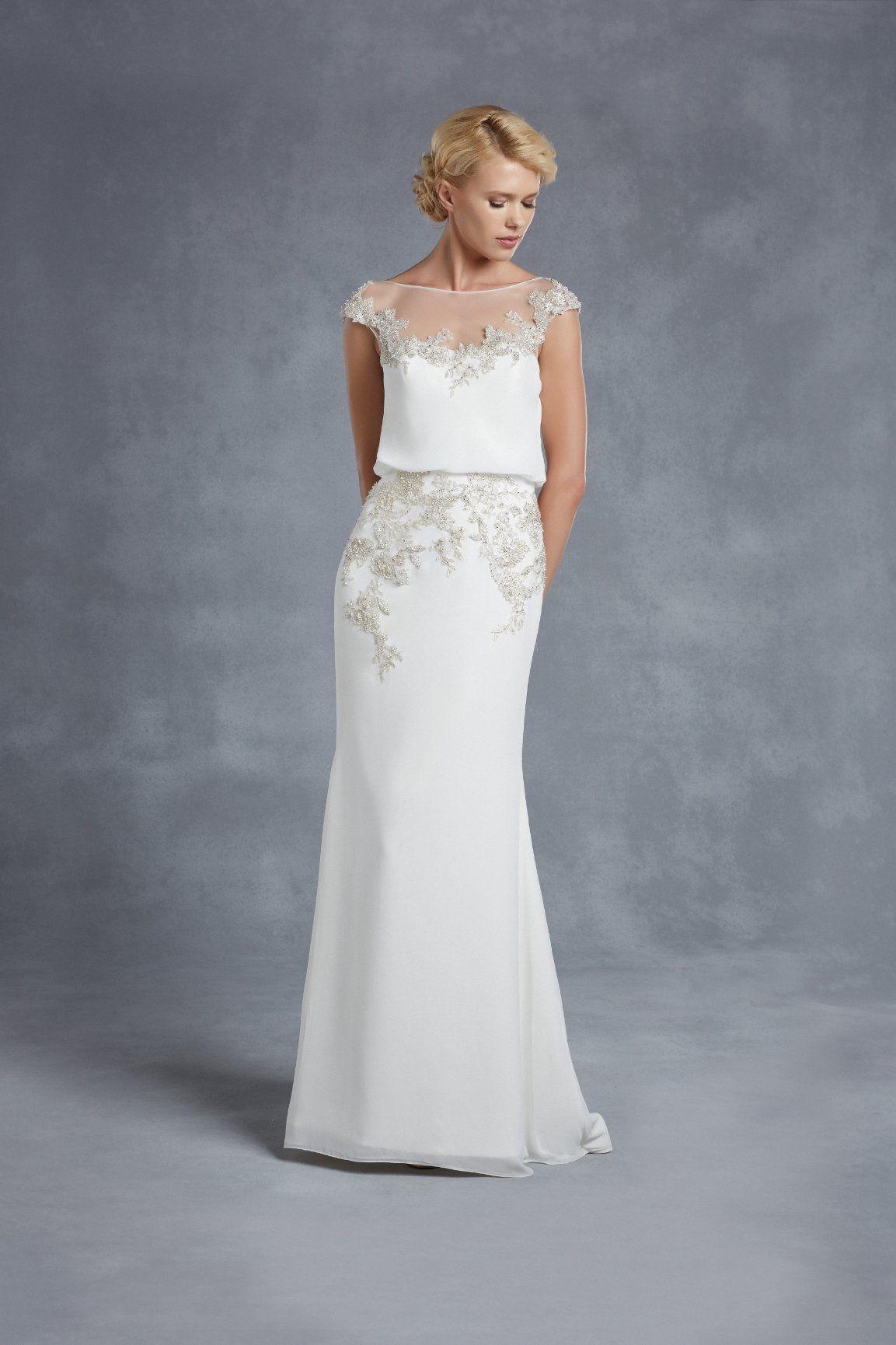 Blue by Enzoani Harlem | Enzoani | Pinterest | Wedding dress ...