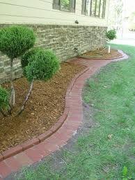 Interlock Brick Edging With Images Brick Garden Edging Garden