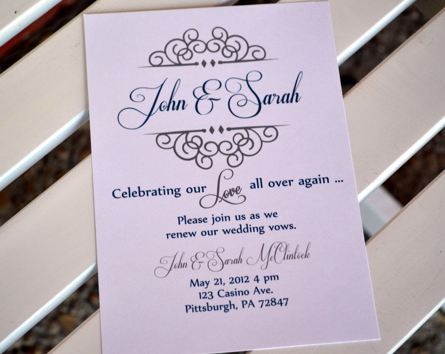 Vow renewal invitation. Anniversary party invitation. Celebrating ...