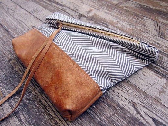 camel leather & #herringbone satchel from babymonopoly #pattern #bag