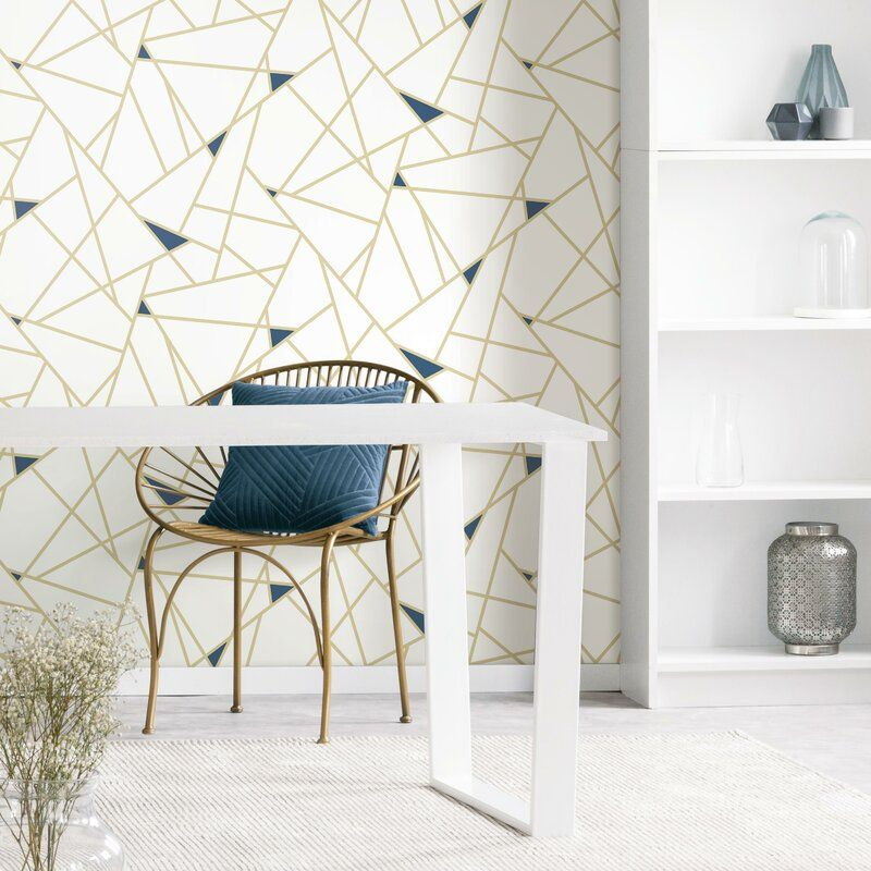 Fannie Fracture 16 5 L X 20 5 W Peel And Stick Wallpaper Roll In 2020 Peel And Stick Wallpaper Wallpaper Roll Wall Coverings