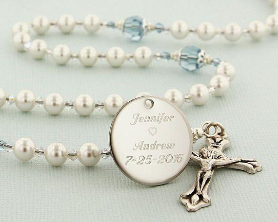 Wedding Rosary Something Blue For Bride Catholic Wedding Gift