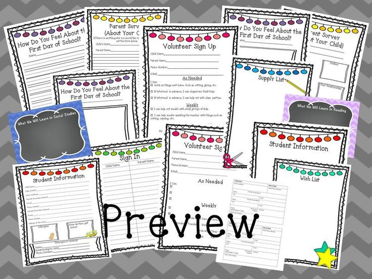 Meet the Teacher and Open House Editable Printables and Powerpoint - student sign in sheet