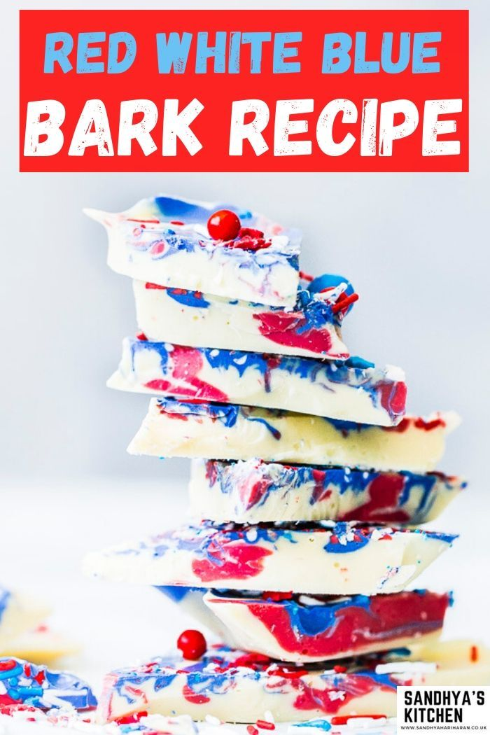 Red white and blue chocolate bark recipe is the 4TH OF JULY Patriotic CHOCOLATE BARK is super easy and yummilicious.  perfect patriotic candy delight as festive treat.