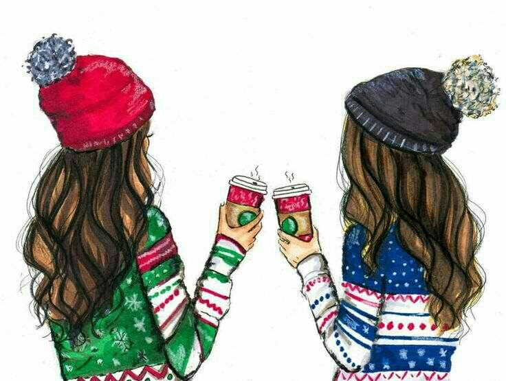 Pin By Audrey White On Fashion Glamurosas Ilustraciones Bff Drawings Drawings Of Friends Best Friend Drawings