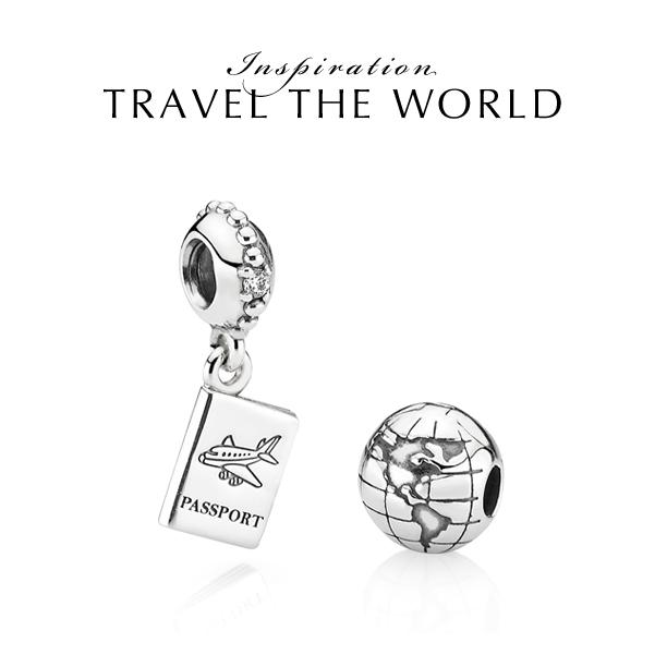 travel pandora charms