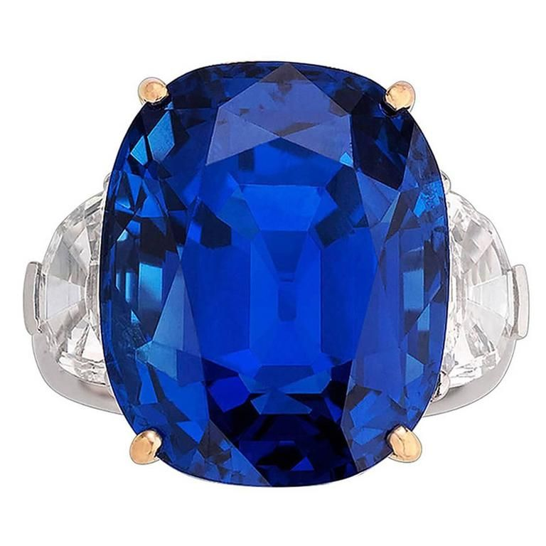 Untreated Burma Sapphire Ring 35 07 Carat From A Unique Collection Of Vintage Cocktail Ring Sapphire Diamond Ring Blue Sapphire Jewelry Vintage Cocktail Ring