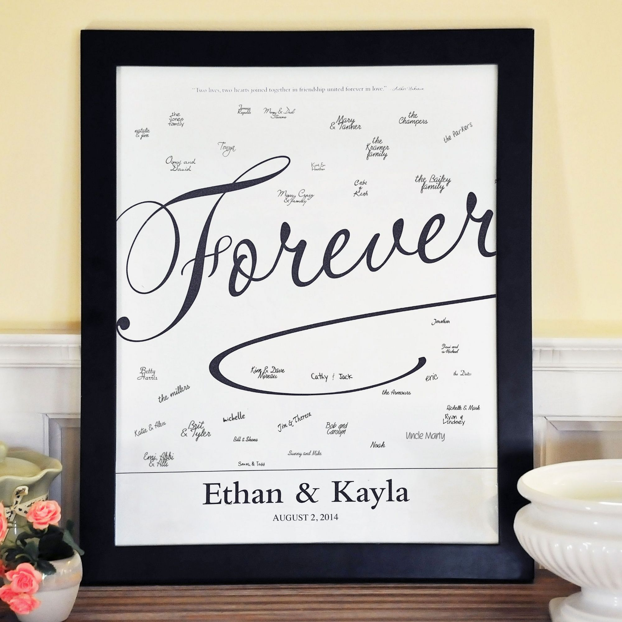 Forever Love Canvas Signature Guest Book | #exclusivelyweddings ...