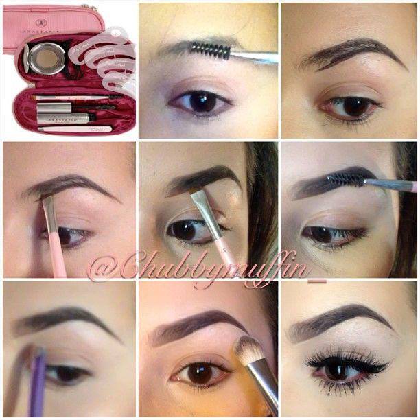 1⃣ I start off with combing out my brows using @anastasiabeverlyhills brow kit 2⃣ I then line my brows to get the desired shape wanted 3⃣ I start to fill in with the brow powder from the kit 4⃣ then I start bring it out towards the inner brown so its not so dramatic 5⃣ I then apply some brow gel and brush it out so it stays beautiful all day 6⃣ I then use concealer to get a clean finish 7⃣ I apply some shimmer to the brow bone 8⃣ your all done @chubbymuffin_- #webstagram