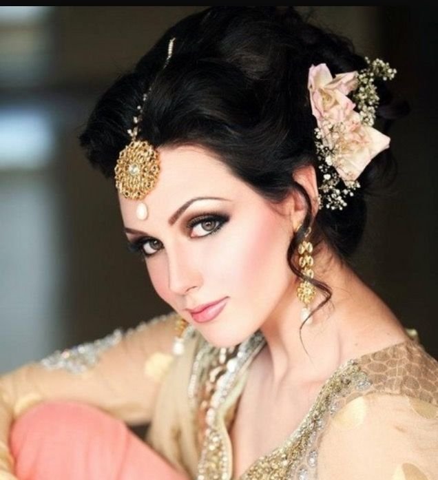Asian Bridal Hairstyles For Long Hiar With Veil Half Up 2013 Short Hair Indian Down