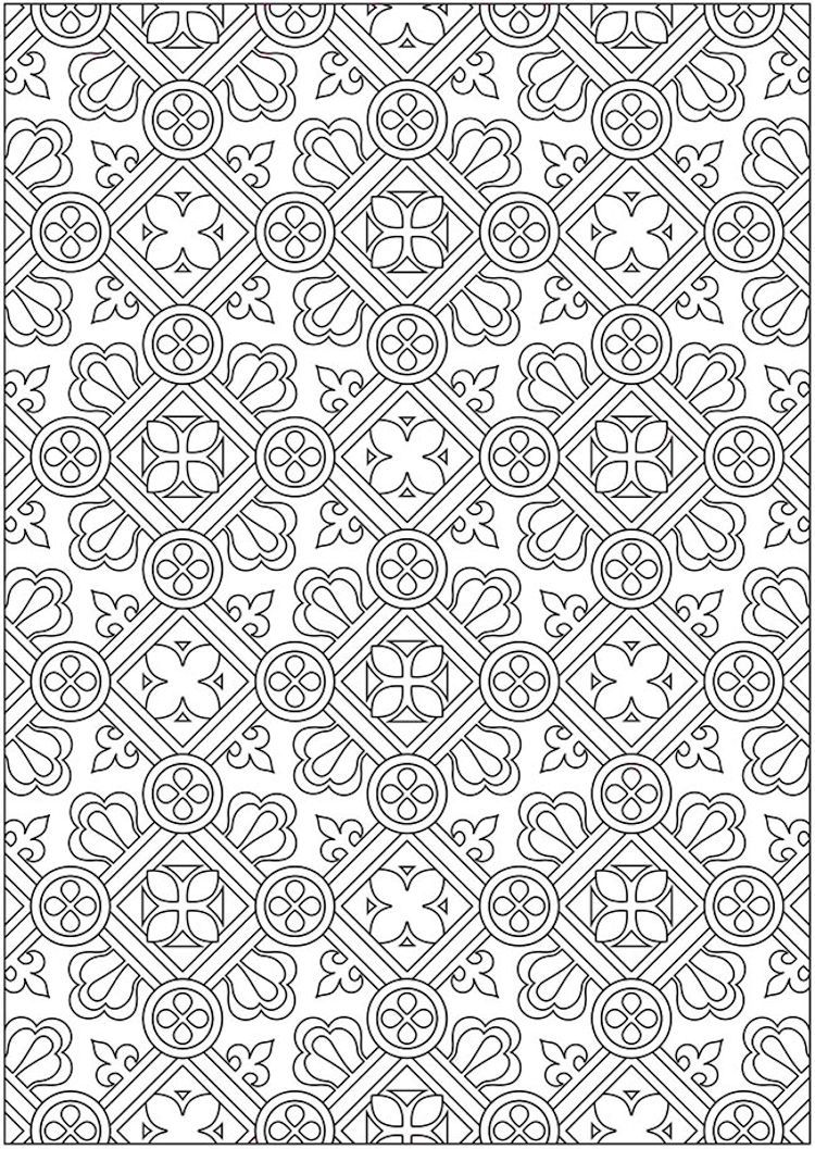 Dover Creative Haven Ornamental Designs Coloring Book (2) | Adult ...