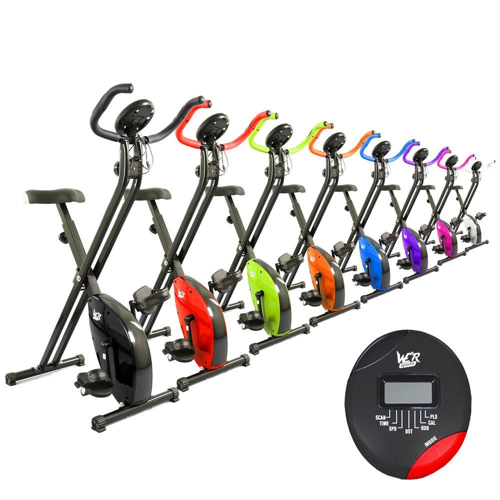 We R Sports Exercise Bike X Bike Folding Magnetic Home Cardio Fitness Machine Biking Workout Upright Exercise Bike Cardio At Home