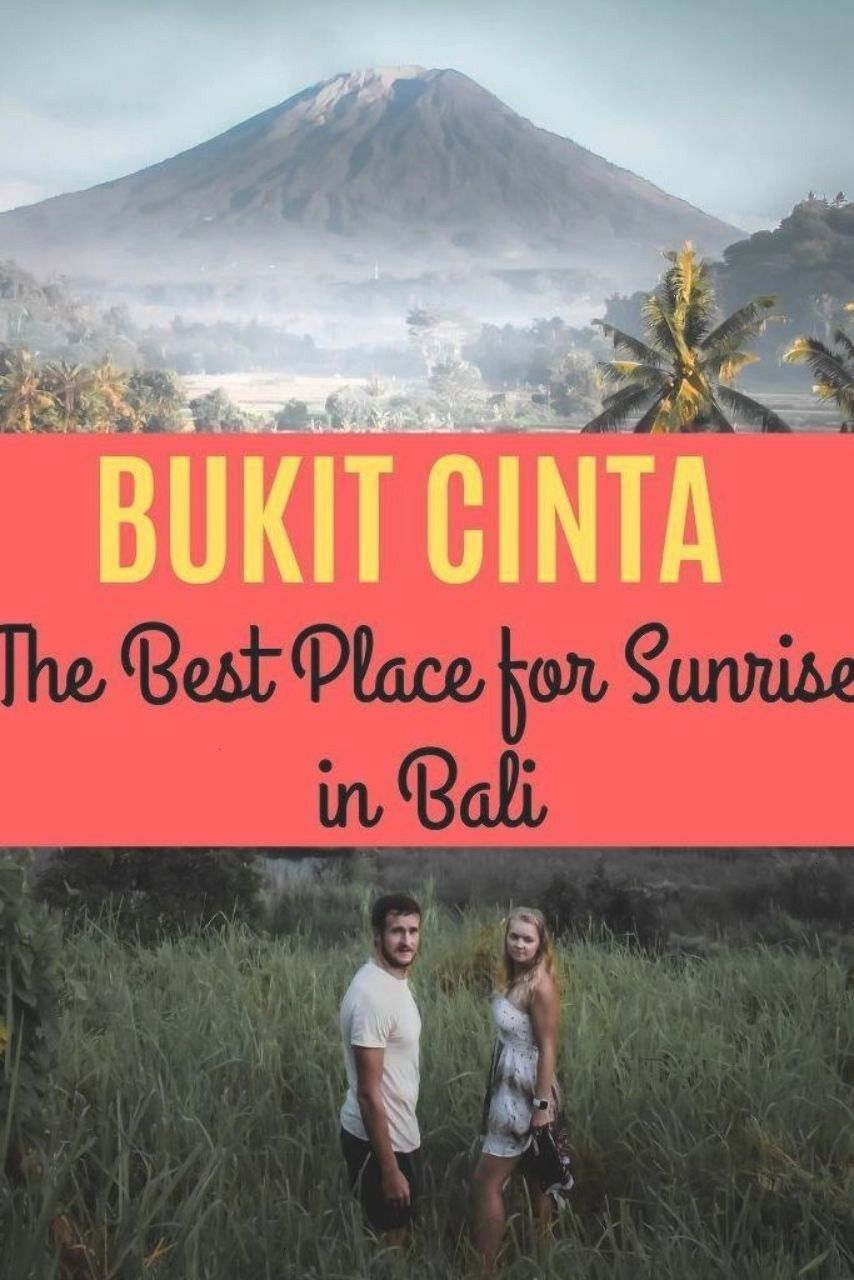 best Mount Agung sunrise view point can be found at Bukit Cinta. One of the best places in Bali to