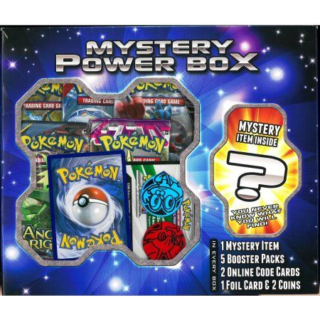 afe1761dbb Pokemon Mystery Power Box Mystery Box, Coin Collecting, Trading Cards,  Walmart, Packaging