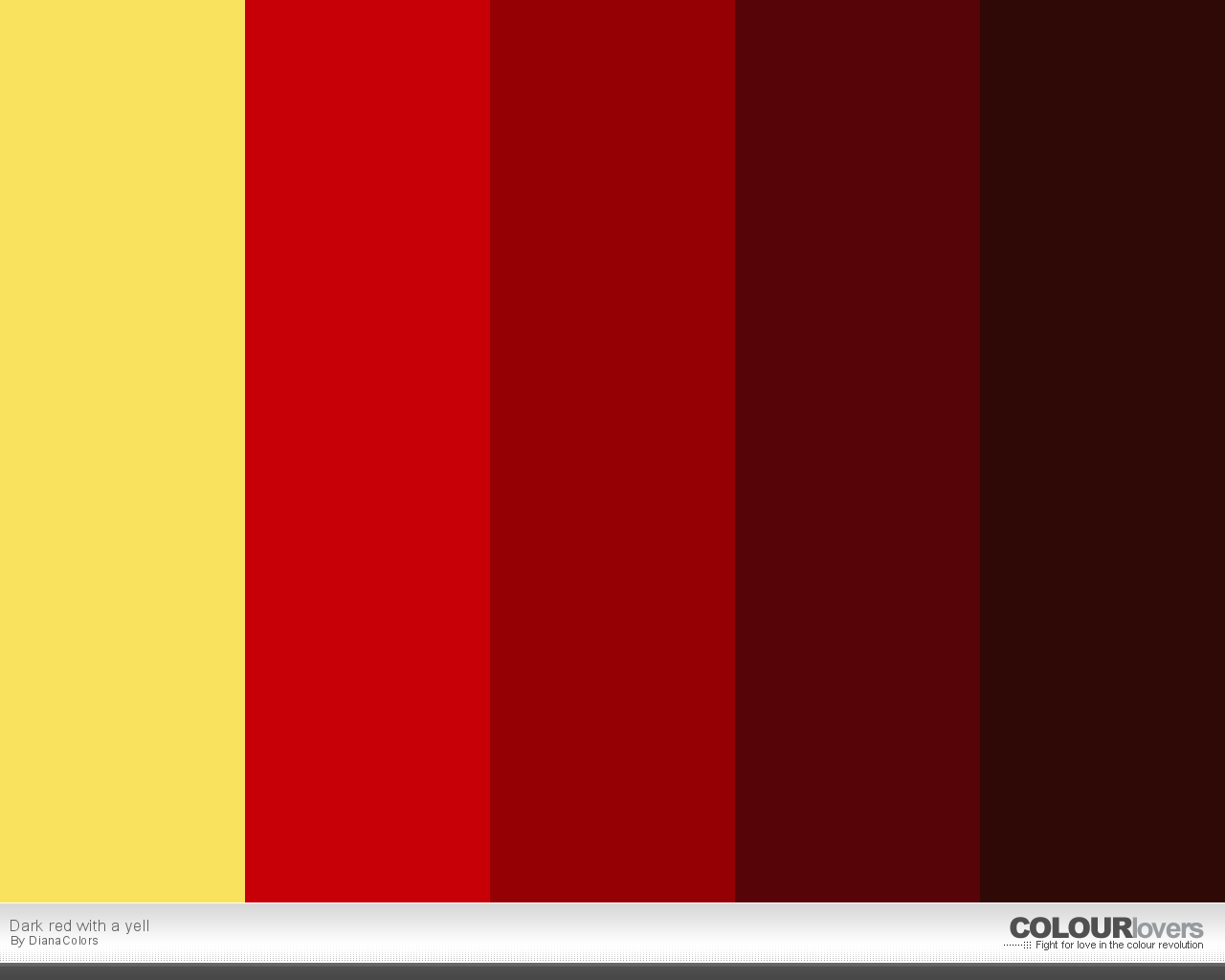 Color Palette Dark Red With A Yell