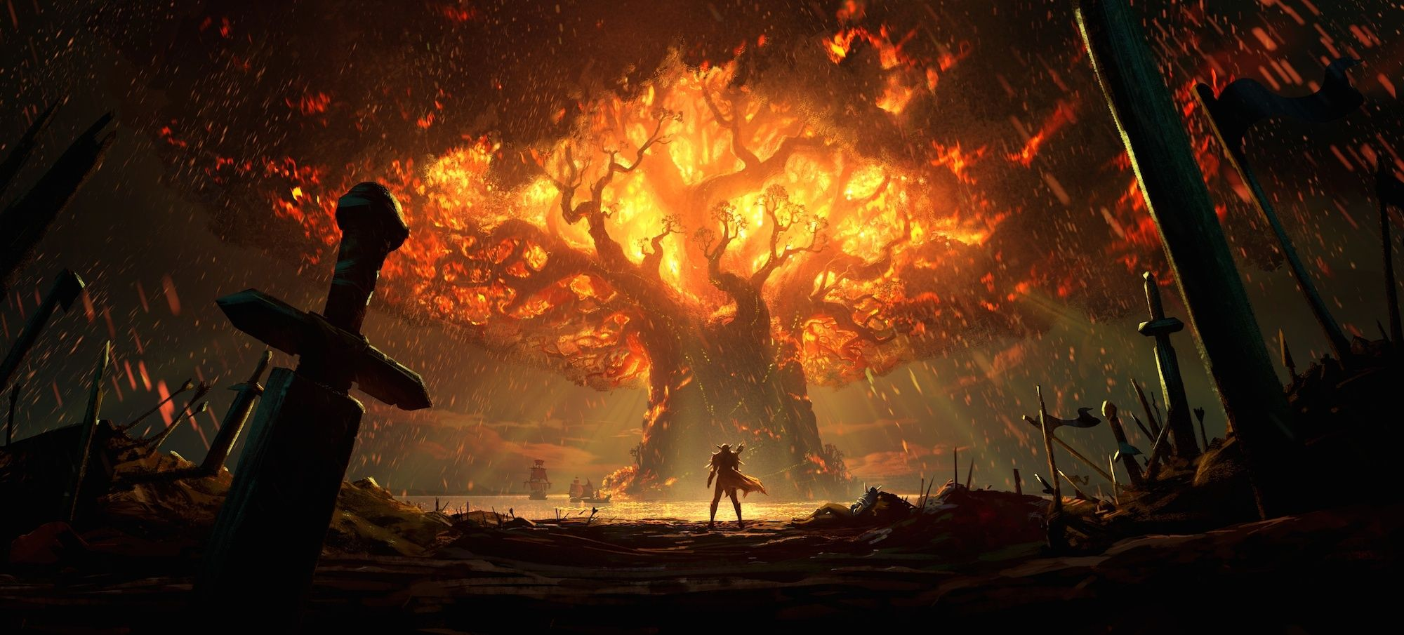 Speculation On The Burning Of Teldrassil In Battle For Azeroth Wowhead News World Of Warcraft Characters World Of Warcraft Wallpaper World Of Warcraft