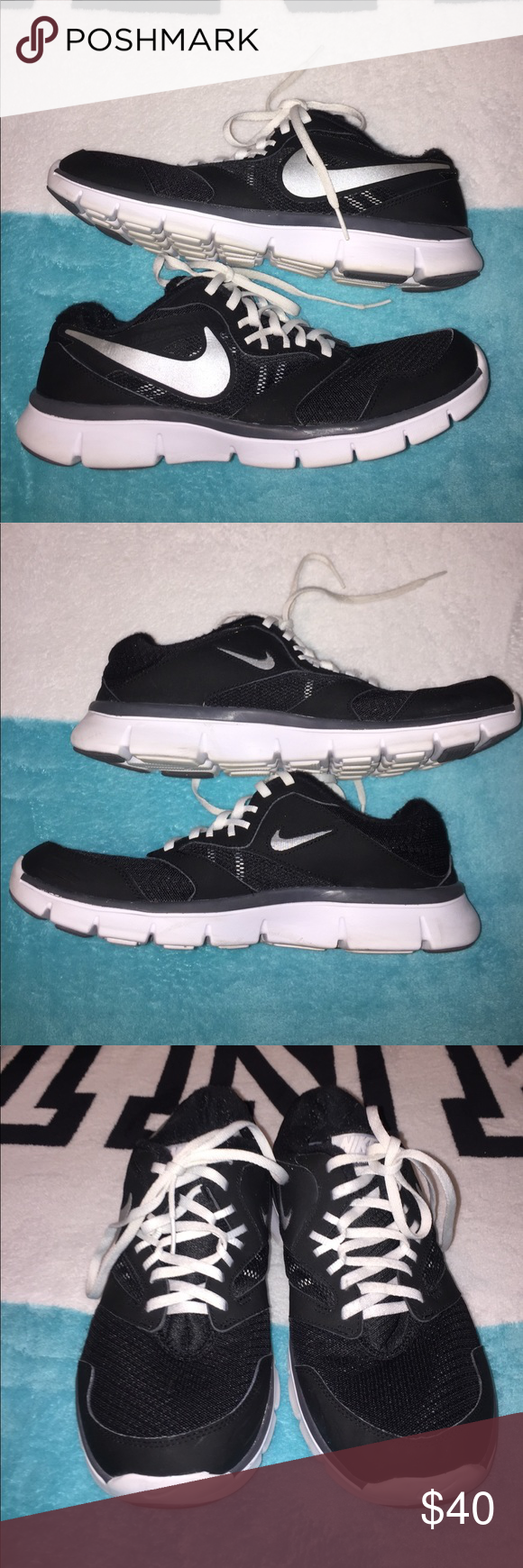f620393345f0a Nike Flex Experience RN 3🖤 In good condition 🖤 Size 11 in women s or a men s  size 10 Nike Shoes Athletic Shoes