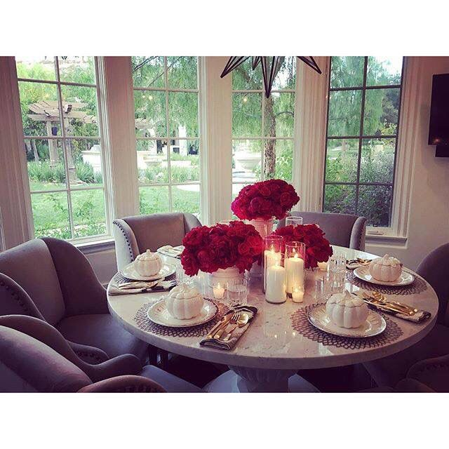 Kitchen Table With Food khloe kardashian's home | home sweet home | pinterest | room