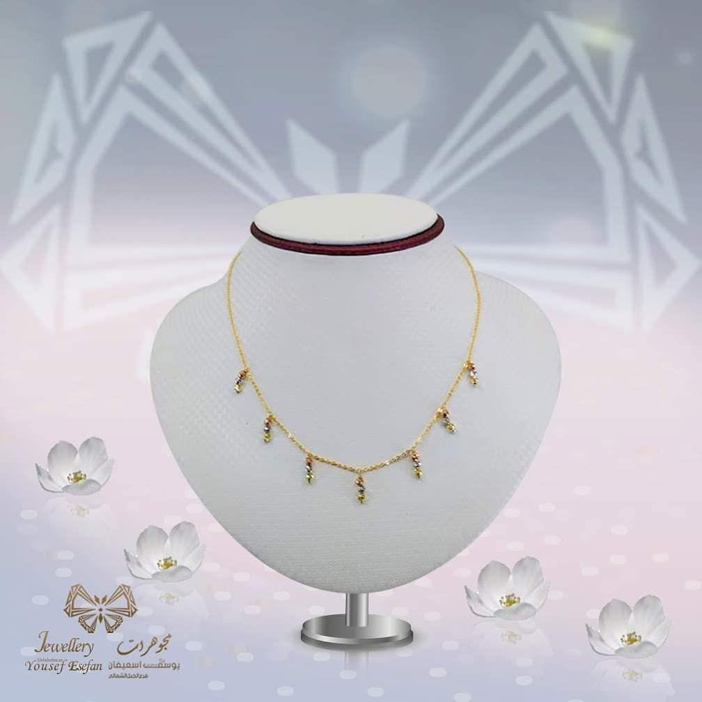 استمتعي الأن بتميزك عند شرائك أرقى تصاميم العقود المتوفرة في متجر مجوهرات يوسف عبدالرحمن اسعيفان الجبل الشمالي حصريا لدى Gold Necklace Jewelry Box Necklace