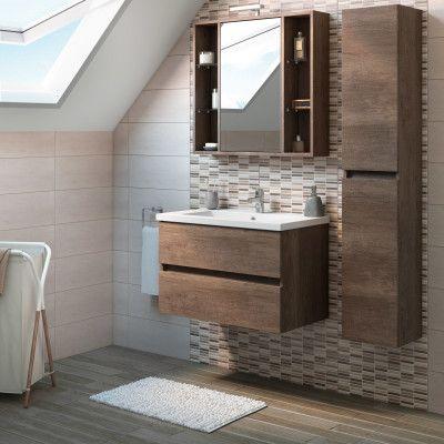 Bagno-Mobile bagno Kora rovere scuro L 81 cm-35846433 | bathroom ...