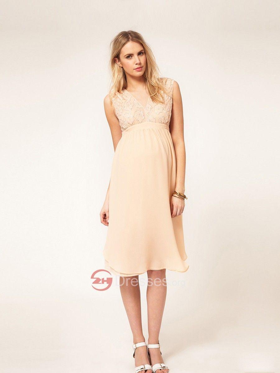 368ce17a0 vestidos de maternidad color beige