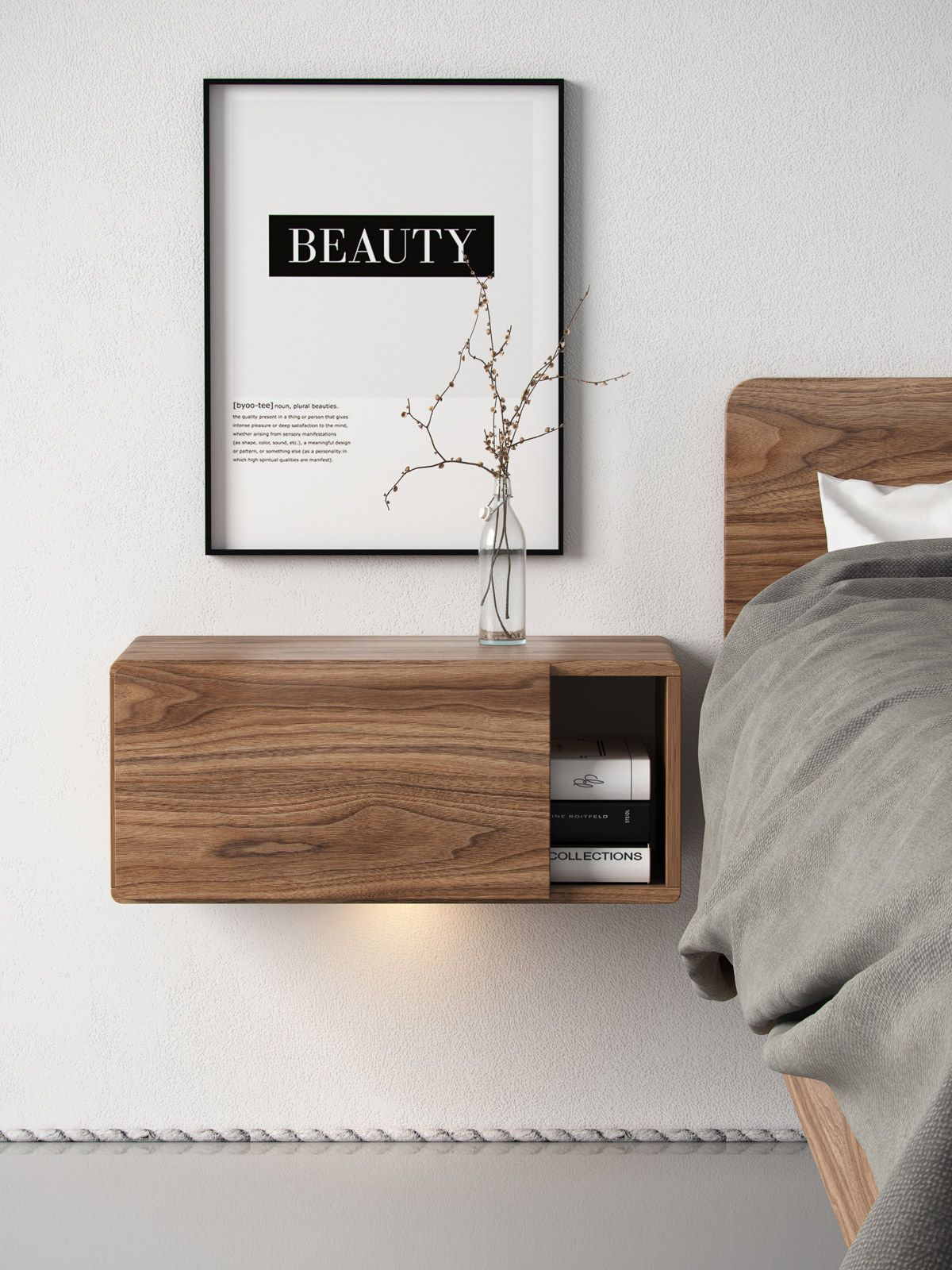bed example with mid teak platform queen modern century danish night stands nightstands gorgeous headboard a diy of floating