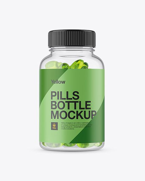 Download Clear Plastic Softgels Bottle Mockup Front View In Bottle Mockups On Yellow Images Object Mockups Mockup Free Psd Bottle Mockup Mockup Psd PSD Mockup Templates