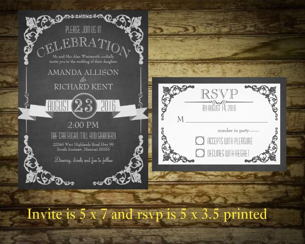 Printable Chalkboard Wedding Invitation Suite  by NotedOccasions, $45.00