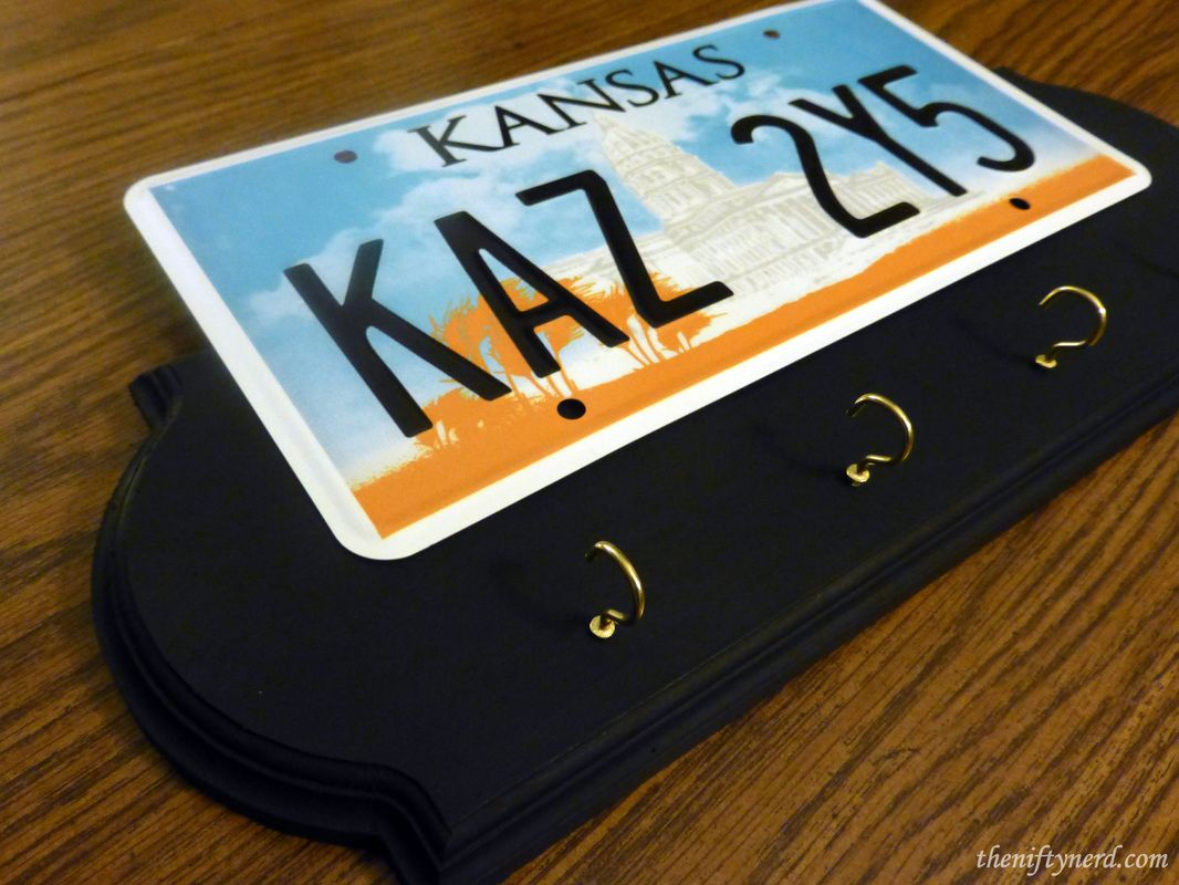 Supernatural Chevy Impala License Plate Key Holder Rack || Supernatural KAZ  2Y5 License Plate Craft