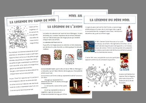 Lecture documentaire les l gendes autour de no l la lecture reading lessons french - Christmas cycle 3 ...