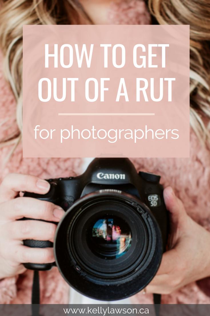 Wie man aus einer Fotografie-Furche herauskommt
