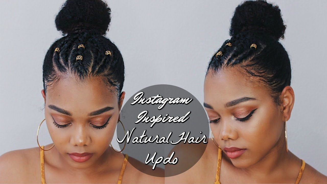 Trendy Instagram Inspired Natural Hairstyle Ft Creme Of Nature Video Https Blackhairinformation Natural Hair Styles Hair Styles Natural Hair Styles Easy