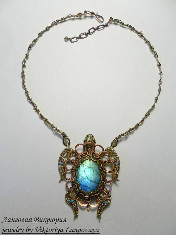 Turtle pendant Turtle Jewelry wire wrap pendant choker sea | Stuff ...