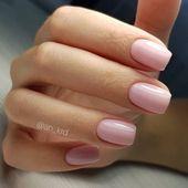 Ziemlich errötendes Rosa auf kurzen Nägeln #nail #manicure #nailpolish #nailart
