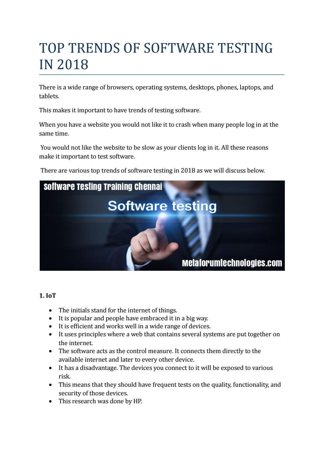 Facts about software testing metaforumtechnologies