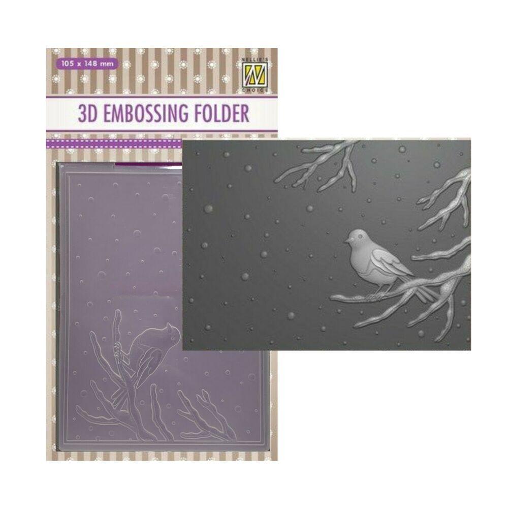 Butterfly Gathering 3D Embossing FolderMemory Box Craft Folders EF1005