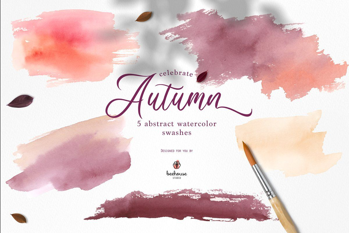 Ad Celebrate Autumn Watercolor Clipart By Beehouse Studio On