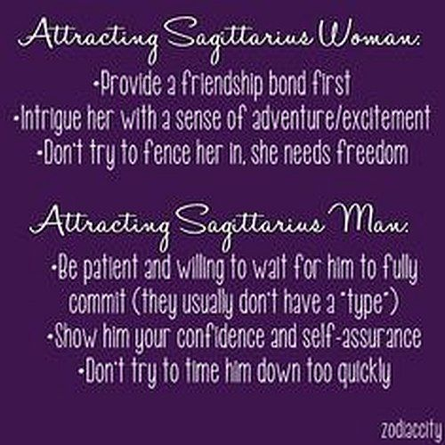 Attracting a sagittarius woman